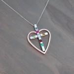 bute family heart cross pendant