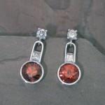 ers0092-red-orange-zirc-dia-earrings