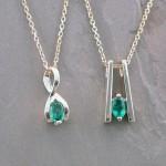 teply emerald pendants