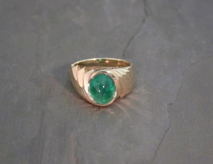 LRS0040 yg emerald ring1775